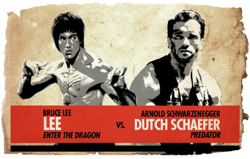 Ultimate Action Hero Showdown: Lee vs. Arnold