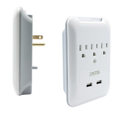 usb wall outlets white dual