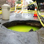 This Sinkhole Is Full Of Radioactive Ooze (Or Dyed Water)