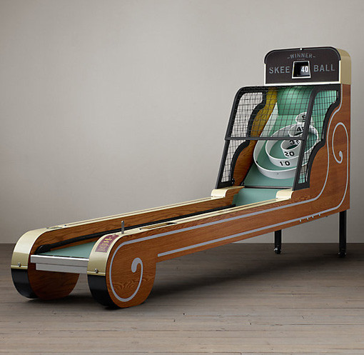 Vintage Arcade Skee Ball Machine