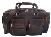 Piel Leather Duffel carry on bags for men