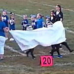 Video: Pee-Wee Football Team Clobbered By Banner