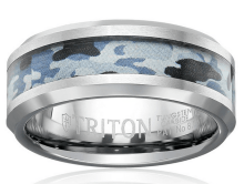 best wedding bands for men Blue Camo