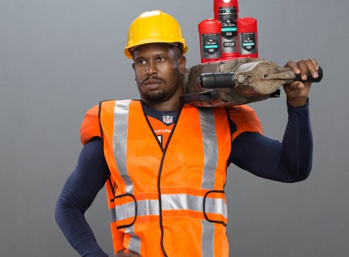 New Old Spice Guy Von Miller vs. Old Old Spice Guy Terry Crews