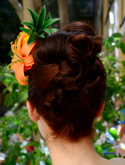 Pinup Hair, from the back