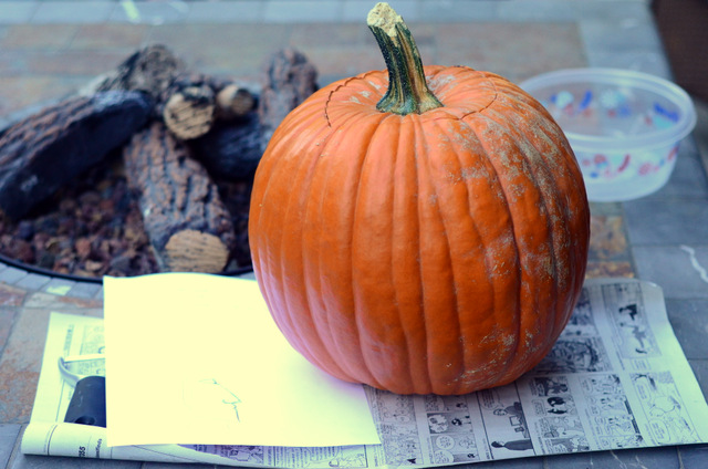 A pumpkin, ready to carve