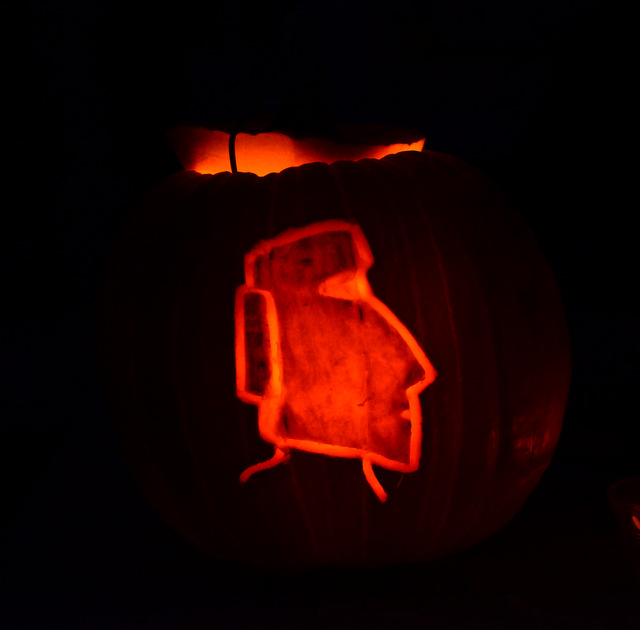 Finished Moai Tiki Jack o Lantern