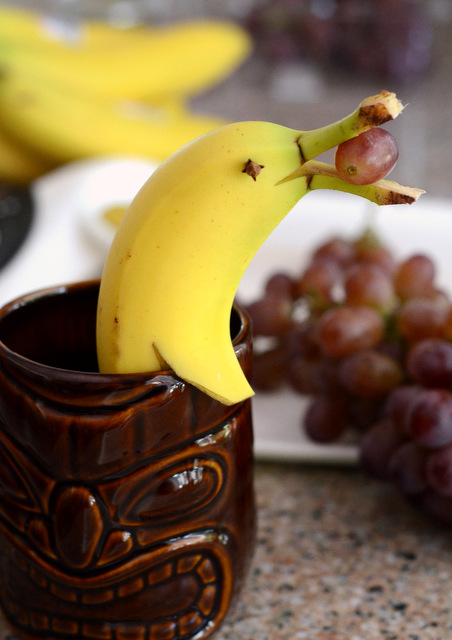 Modern Tiki Garnish: How to Make a Banana Dolphin