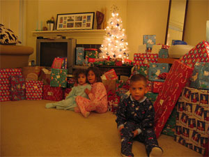 Kids on Christmas