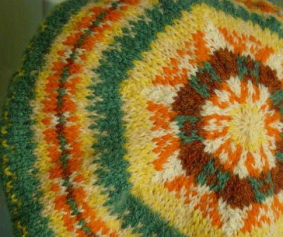 modflowers: vintage fair isle beret from vintagelifestyle