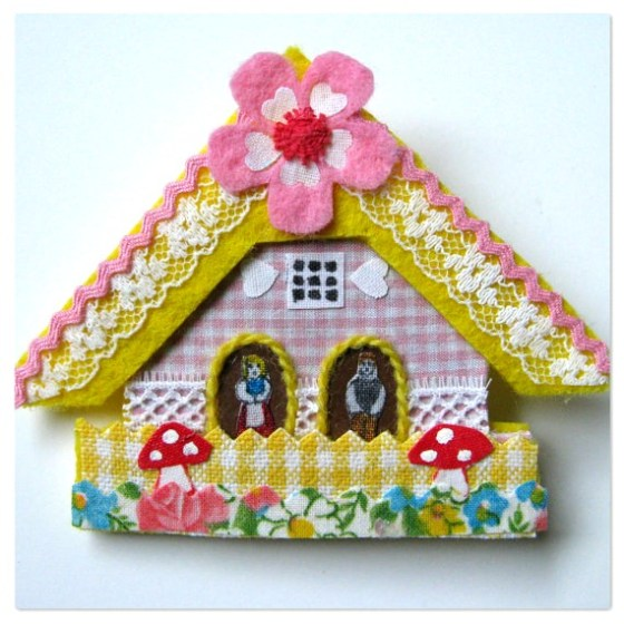 modflowers: chalet house brooch by Happy as a Lark