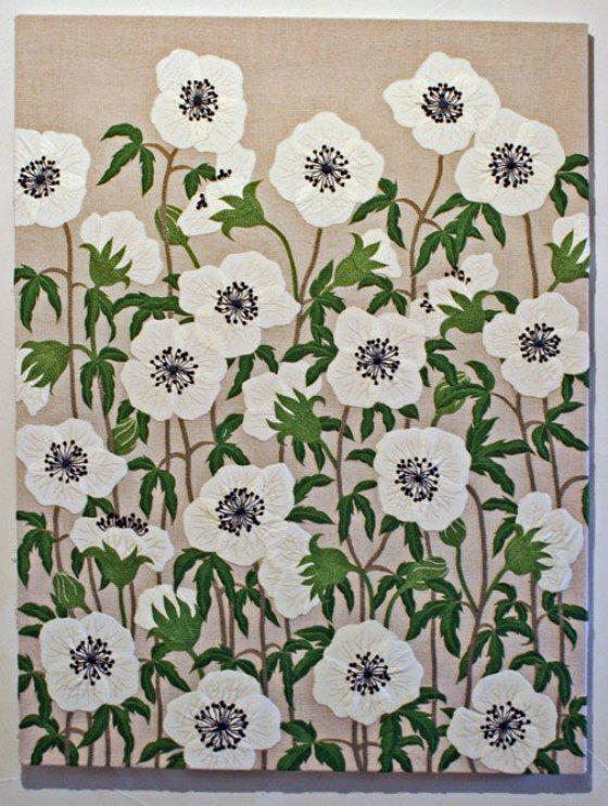 modflowers: embroidery by Yumiko Higuchi
