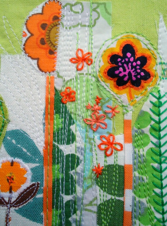 modflowers: stitchy garden postcard