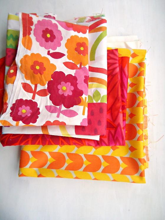 modflowers: bright vintage fabrics