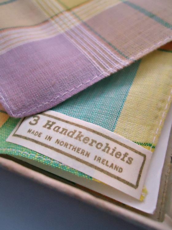 modflowers: vintage hankies label