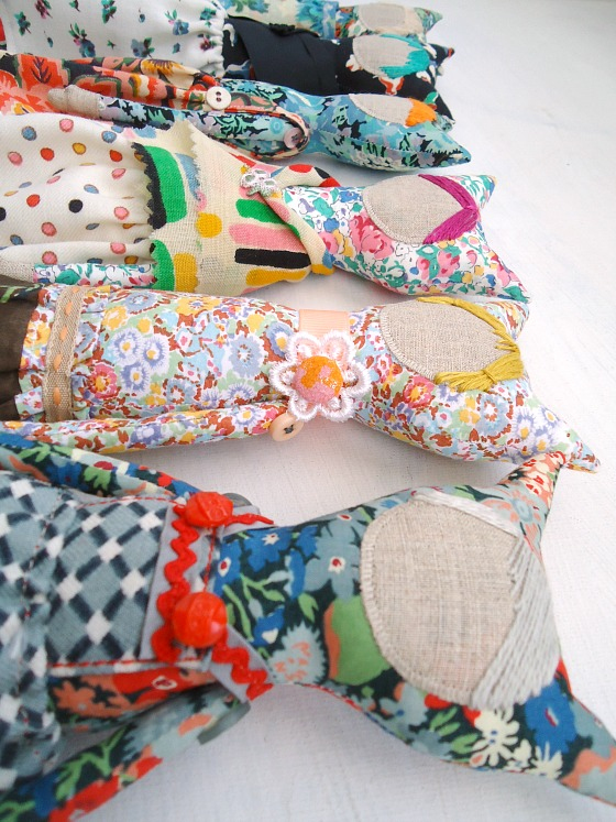 modflowers: handmade dolls in Liberty fabric - in progress