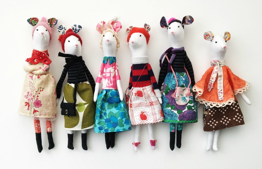The Whiskers Sisters - handmade dolls by modflowers