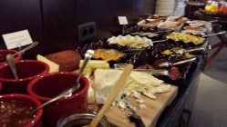 Cheese selection.