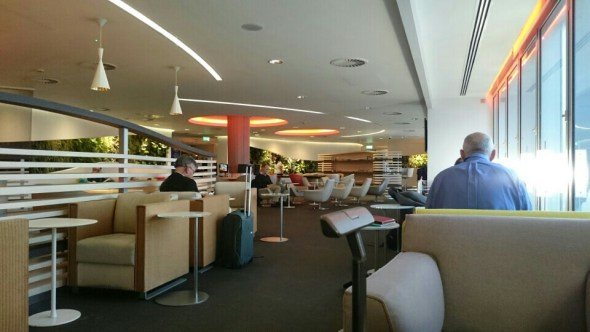 Inside the SkyTeam Alliance Lounge at LHR