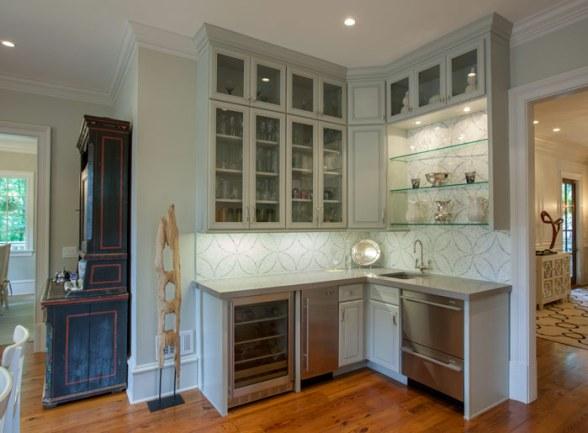 Corner kitchen design.