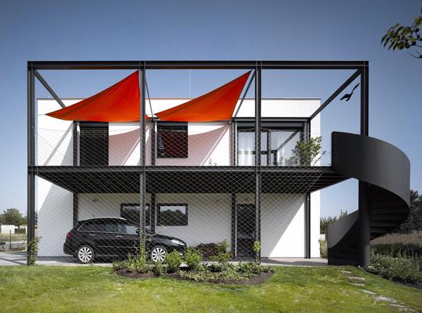 stempel tesar family house modus vivendi arquitectura modular prefab architecture piloto