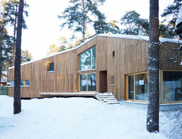 cabaña en rusia cabin house in the forest wood madera Sestroretsk house ZDA architettura modus vivendi arquitectura blog