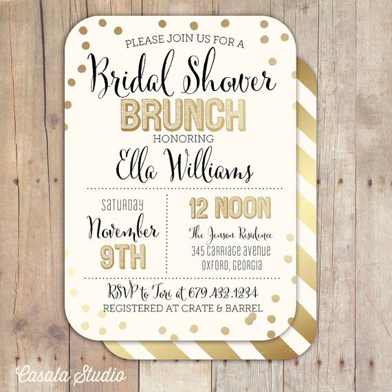 Bridal shower brunch ideas for a perfect party with the for Wedding brunch invitations