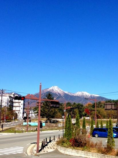 八ヶ岳の初冠雪