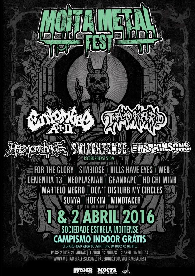 Cartaz Moita Metal Fest 2016