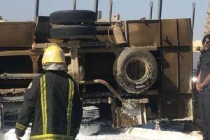 بالصور.. إصابة مواطنين جراء حادث إصطدام بطريق الستين بجازان