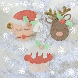 Festive Felties pattern by Molly and Mama
