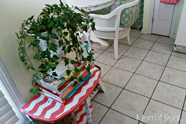 Painted Chevron Side Table