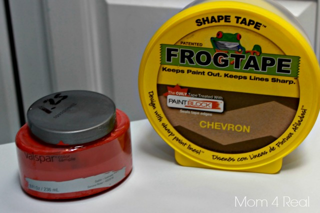 Shape Tape and Sonora Rose Paint