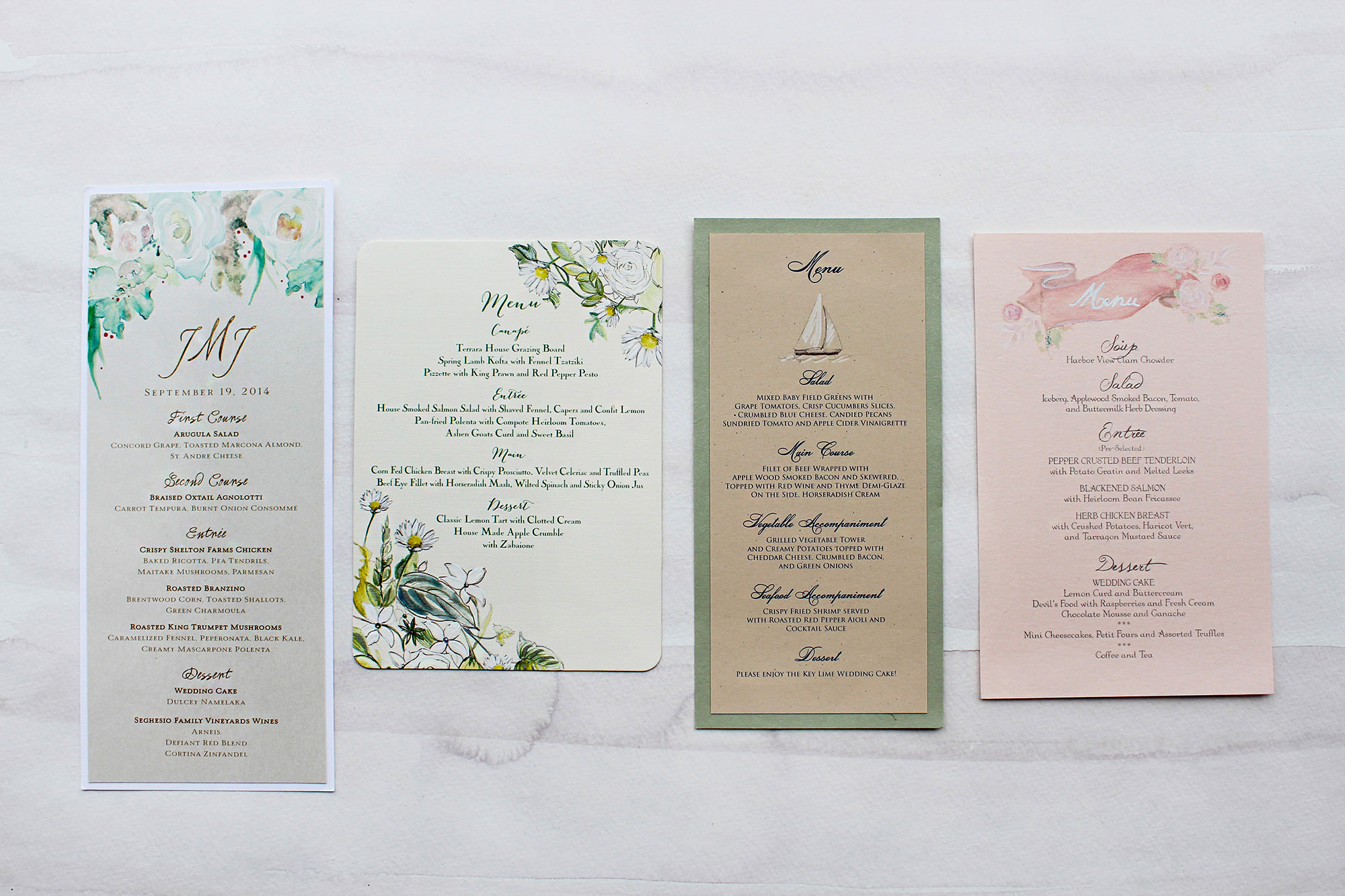 menus wedding menus Consider a menu that becomes a keepsake for guests no material is out of the question Include personal did you know type facts in the design to