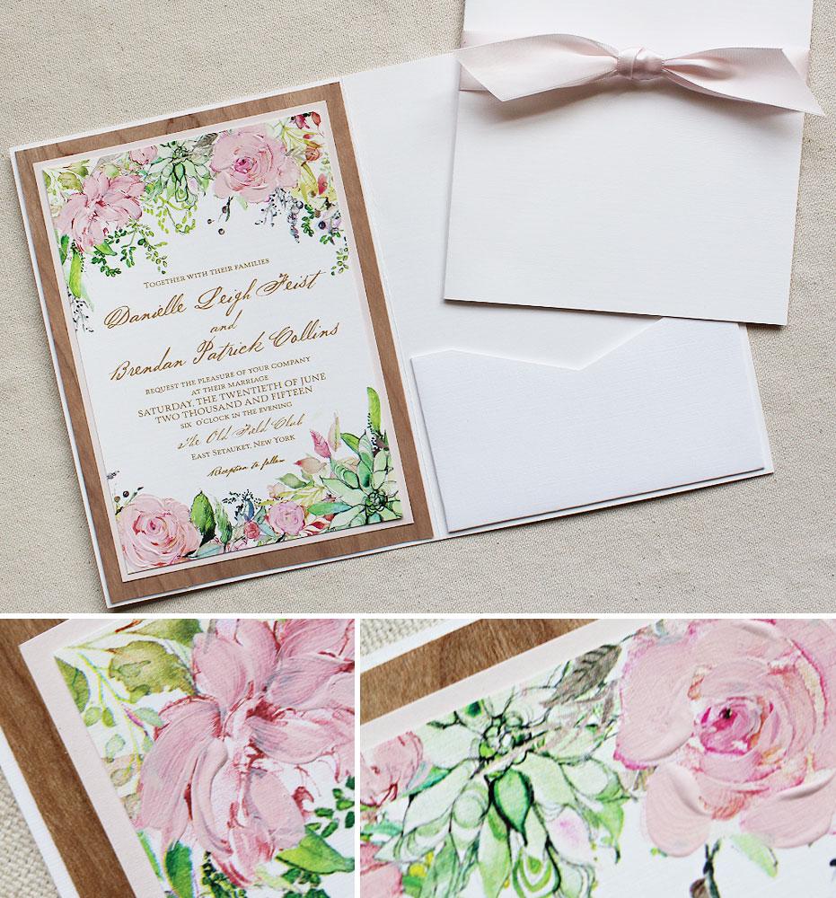 danielle f 2 succulent wedding invitations Pin It succulent and floral wedding invite