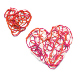 valentine's day craft heart ornament