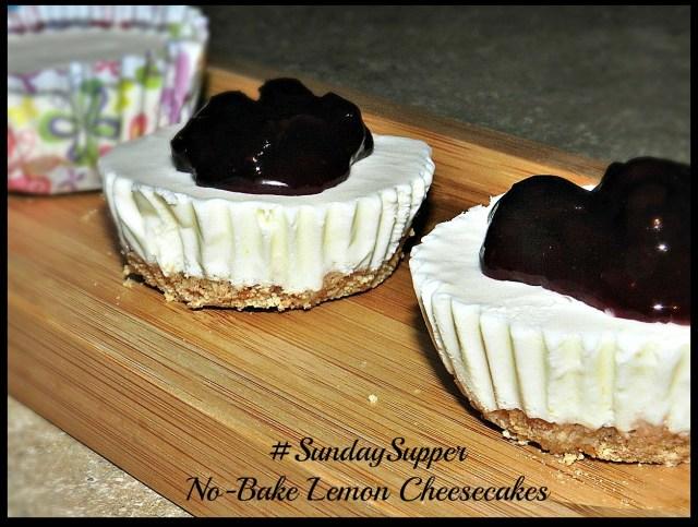 No-Bake Lemon Cheesecakes #SundaySupper