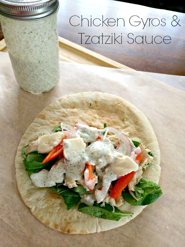 Chicken Gyros & Tzatziki Sauce 2