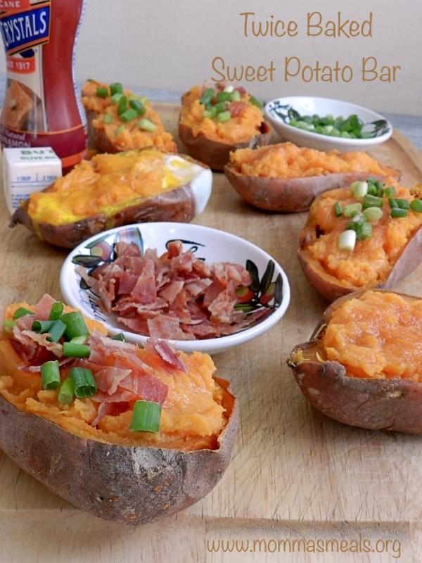 Twice Baked Sweet Potato Bar P