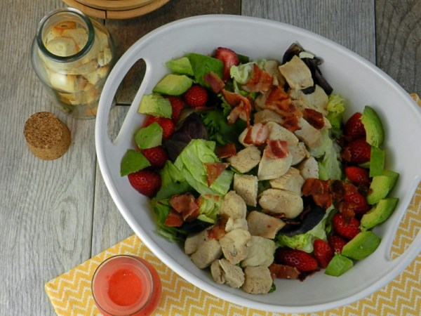 Grilled Chicken Salad with Strawberry Balsamic Dressing