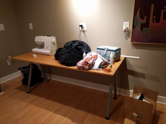 The sewing space