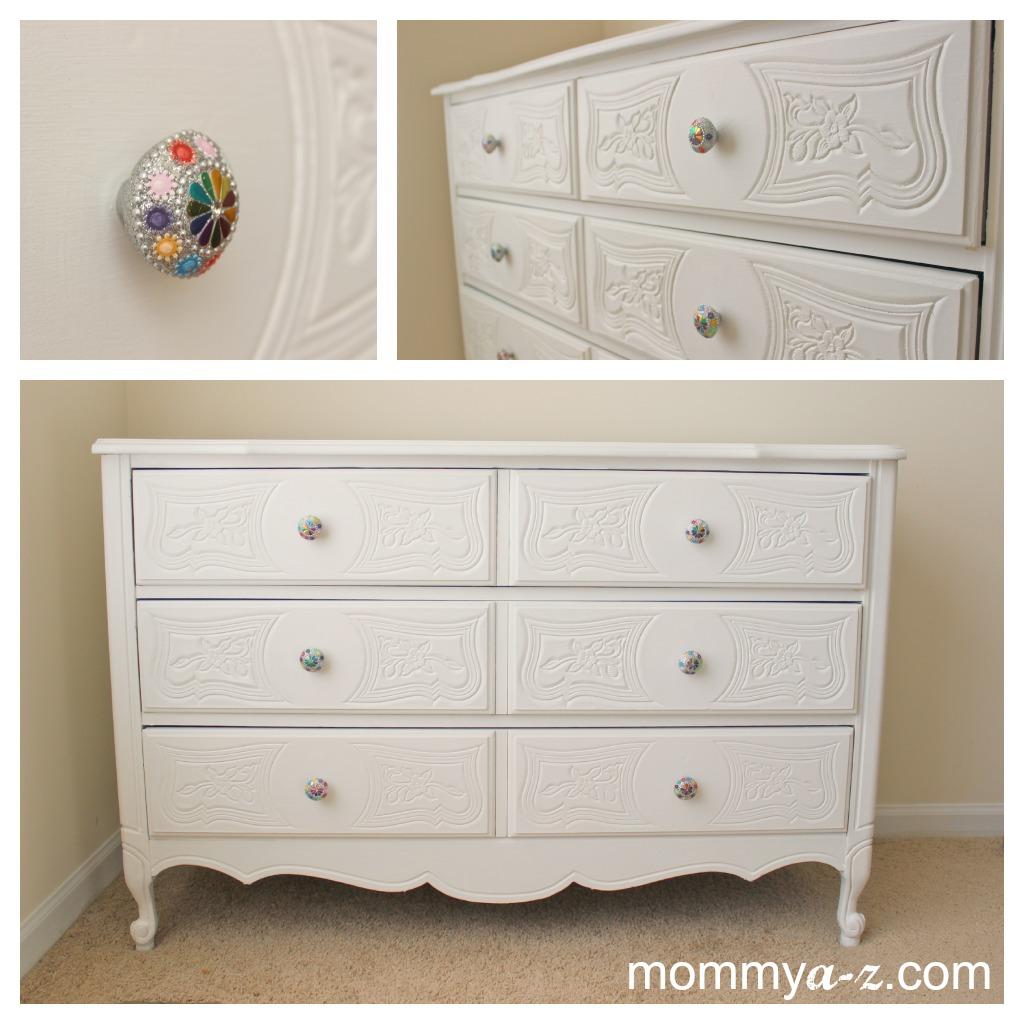 White Antique Dresser white vintage dresser | mommya-z