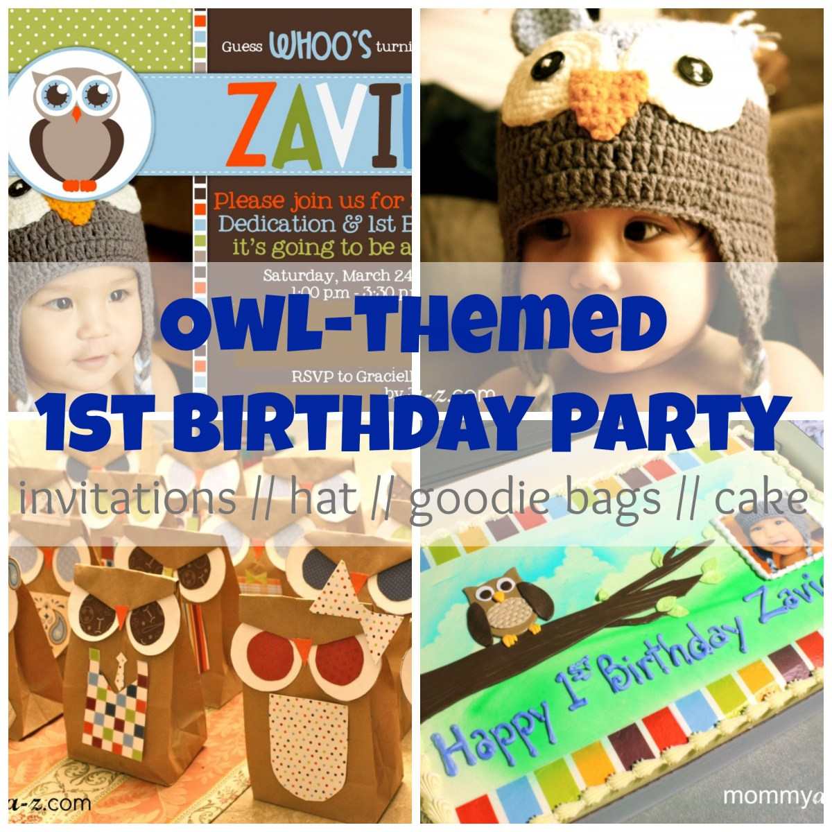 Owl-themed First Birthday Party