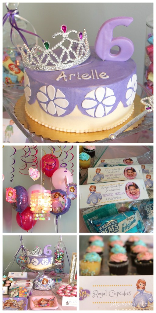 Sofia the First Birthday - Cake, Decorations, and Food Label Goody Bag Topper Templates