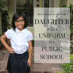 Why I chose to have my daughter wear a uniform in a public school
