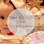 Pink and Gold Stars First Birthday