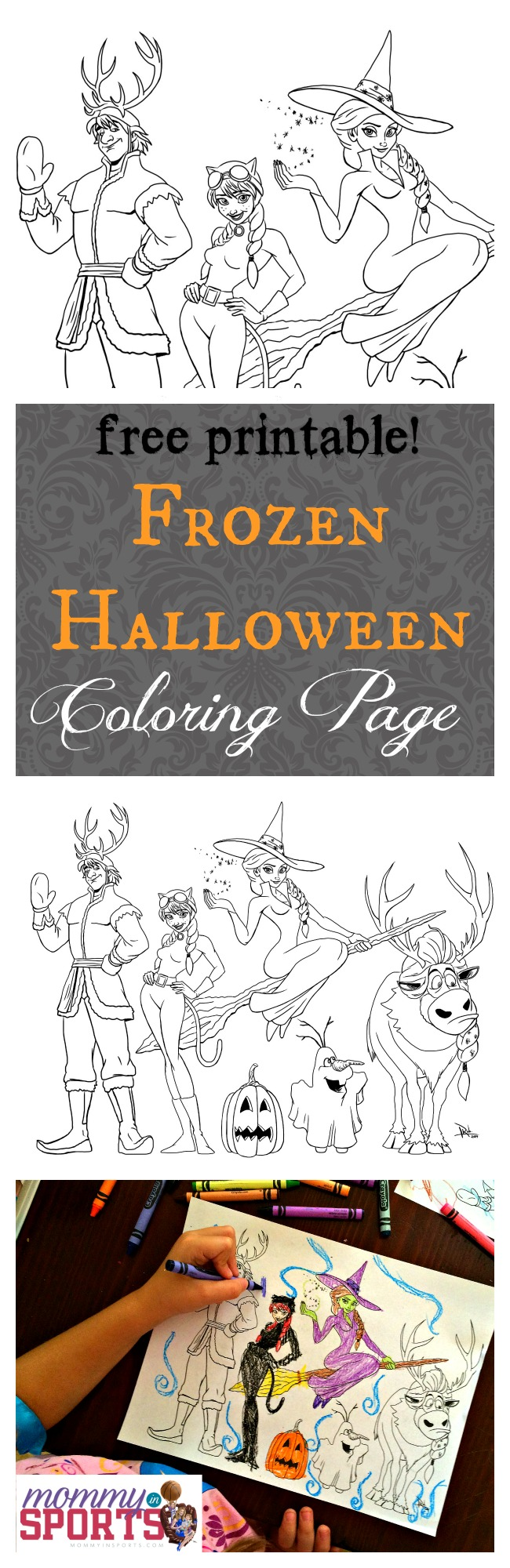 Frozen Halloween Printable Coloring Pages : Frozen halloween coloring page mommy in sports