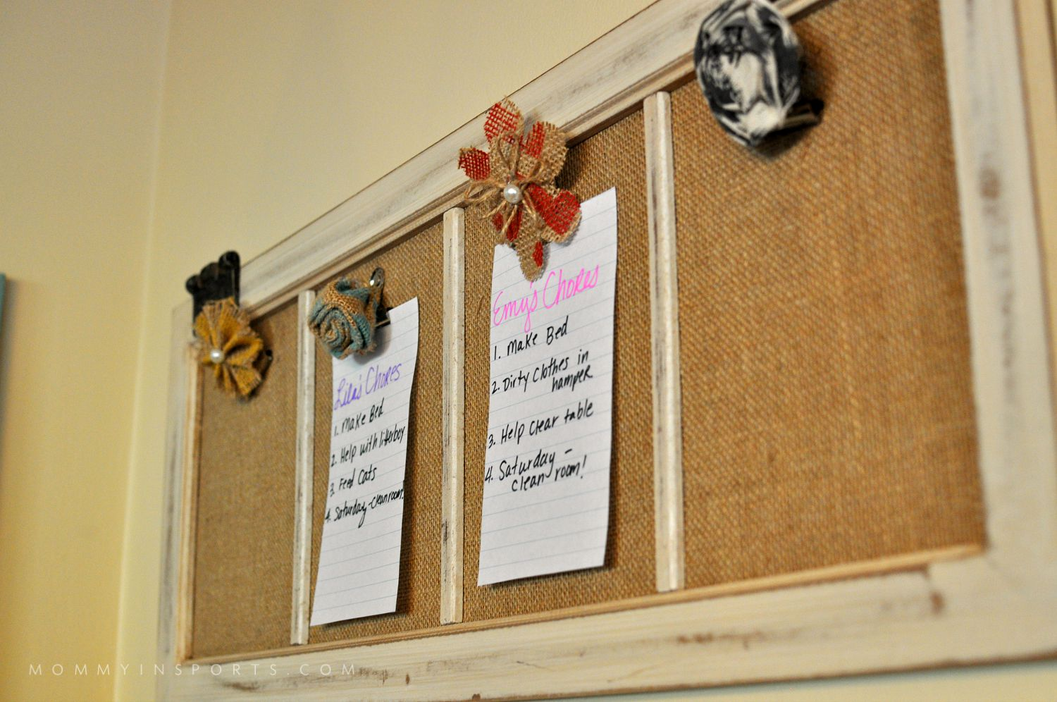 DIY Home Wall Organizer Bulletin