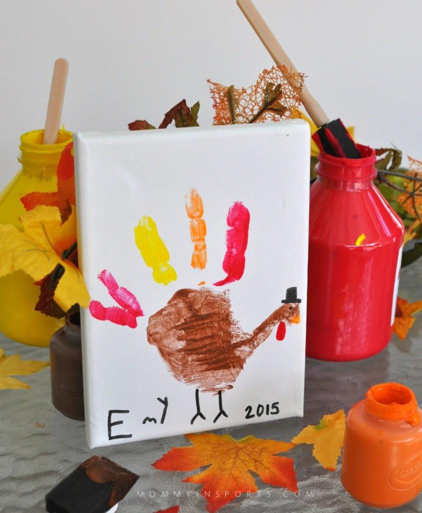 Thanksgiving Turkey Handprint Vertical