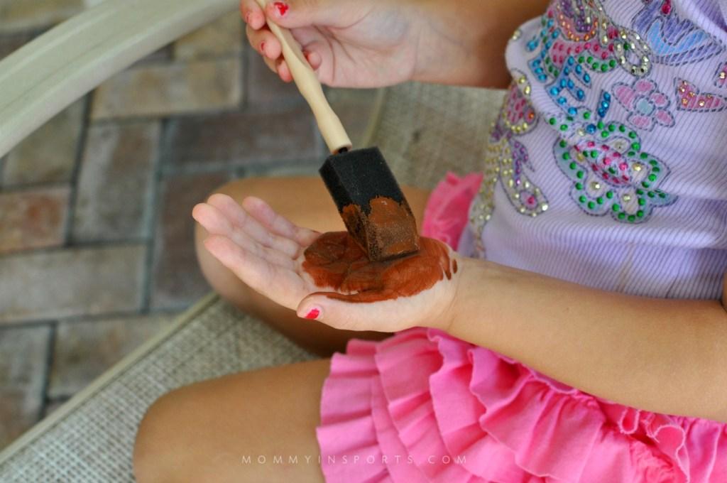 Thanksgiving Turkey Paint Hand Brown